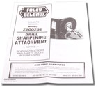 1055 Dill Bit Sharpening Attachment Owners Manual