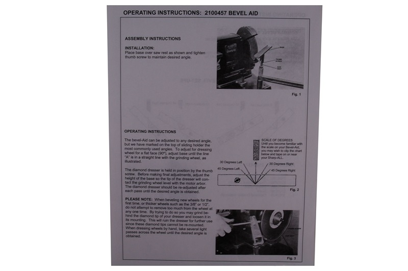 Manual for Foley-Belsaw Model 2100457 Bevel Aid