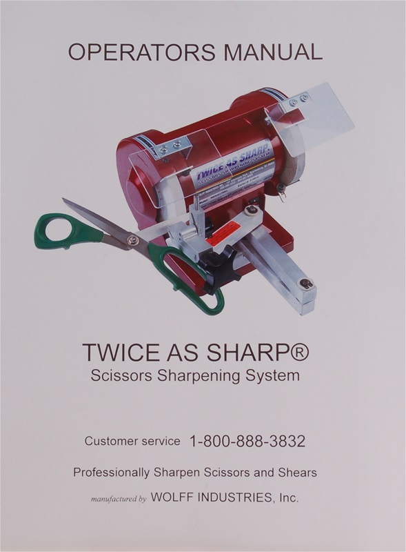 Manual for Twice As Sharp / Model 327 Scissors Sharpener