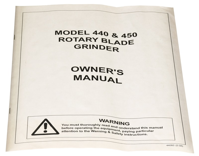 Manual for Model 440 and 450 Neary Rotary Blade Grinders