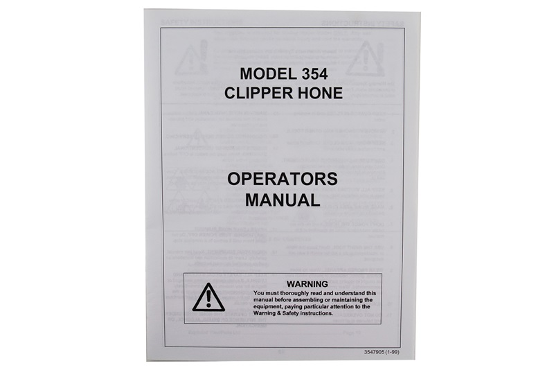 Manual for Foley-Belsaw Model 354 Clipper Hone