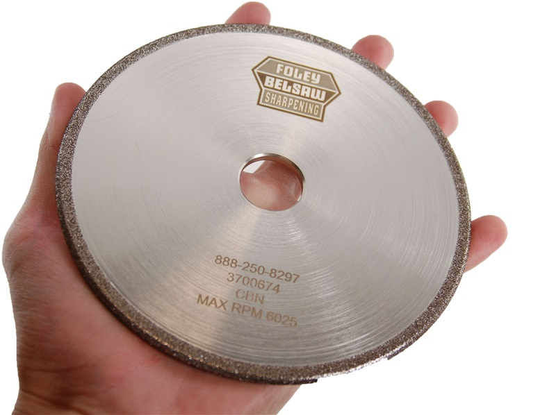 "CBN Plated 5-3/4"" x 3/16"" Chainsaw Grinding Wheel"