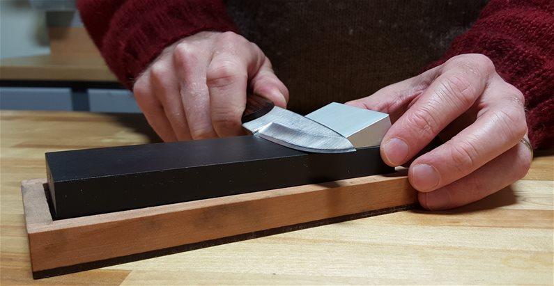 belt sander knife sharpening guide