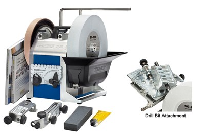 A Complete Water Cooled Sharpener with Drill Bit Attachment Tormek Sharpening System Drilling System TBD806 T8