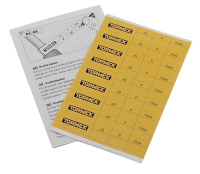 Tormek Profile Labels