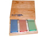 "DMT Three Stone 6"" Diamond Whetstone Set in Hardwood Box"