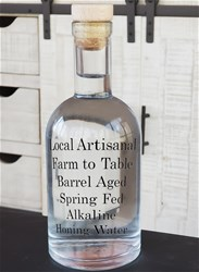 Local Artisanal Farm-To-Table Barrel-Aged Spring Fed Alkaline Honing Water