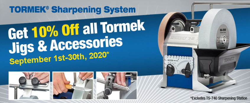10% Off Tormek Jigs & Accessories