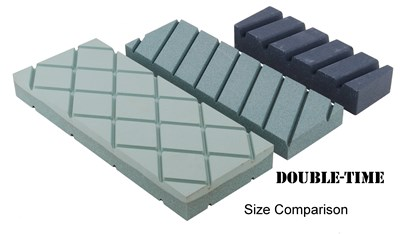 Double-Time Flattening Stone Size Comparison