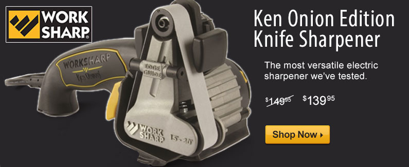 Ken Onion Edition Knife Sharpener. The most versatile electric 