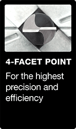 4-facet point
