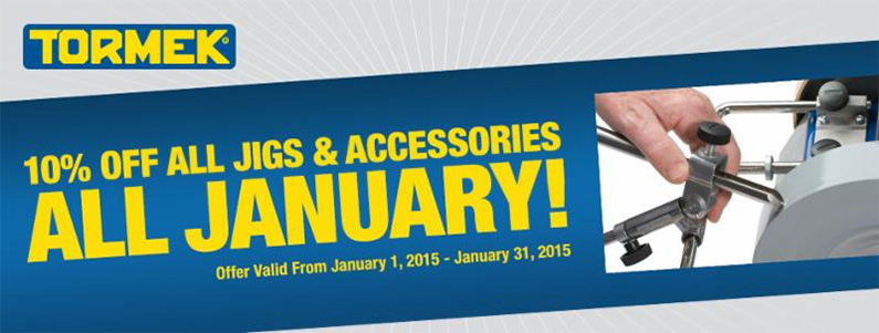 Tormek Save 10% on All Jigs & Accessories - All January Offer