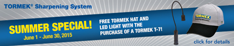 Tormek T7 FREE Tormek Hat and LED Light Offer