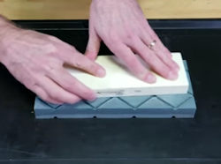 Demonstrating the Double-Time Flattening Stone  - Video